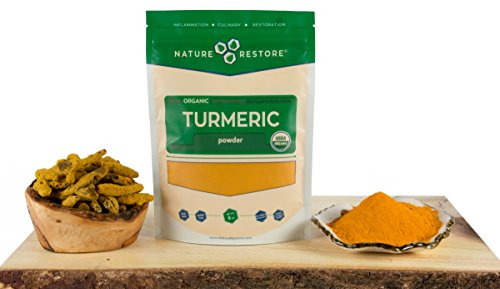 41d1zy1IiwL - USDA Certified Organic Turmeric Powder with Natural Curcumin, Non-GMO and Gluten-Free (8 ounces)