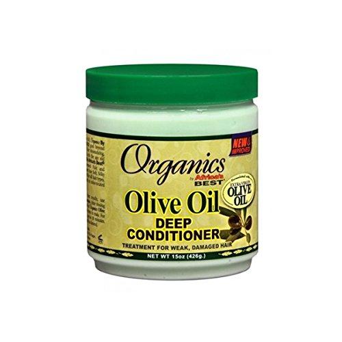 Africa's Best Organics Olive Oil Deep Conditioner, 15 Ounce (Africas Best Organics Olive Oil Leave In Conditioner)