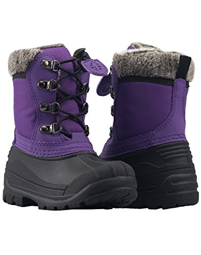 Boots Snow Purple Winter Oakiwear Plum Childrens tqC8xqwf