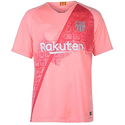 634b68b2c95 Buy aaDDa Barcelona 3RD Pink Jersey with Shorts 2018 19 Online at ...