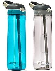 Contigo Garrafa de água autospout Straw Ashland, 700 ml, Azul e Cinza, pacote com 2