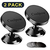 [ 2 Pack ] Magnetic Phone Mount, [ Super Strong Magnet ] [ with 3 Metal Plate ] car Magnetic Phone Holder, [ 360° Rotation ] Universal Dashboard car Mount Fits iPhone Samsung etc Most Smartphones