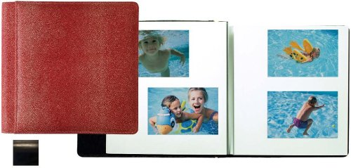 ROMA BLACK smooth-grain leather #133 magnetic page album by Raika -
