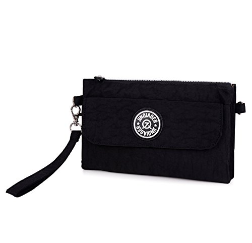 Outreo Bolso de Mano Mujer Bolso Bandolera Moda Casual Ligero Bolsas de Impermeable Bolsas de Deporte para Escuela Sport Bag Pequeña Negro