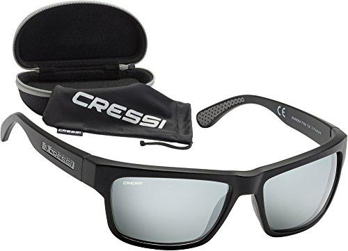 Cressi Unisex Wassersportbrille Rocker, schwarz/verspiegelte gläser grau, M, DB100070