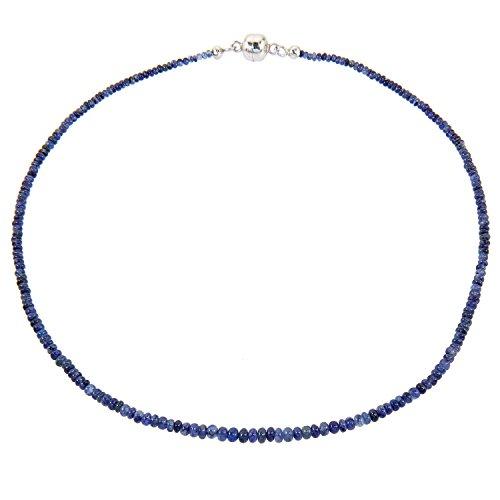 Harry Ivens-Collier Femme-Collier Femme-Argent 925/1000rhodié Saphir Bleu Magnétique