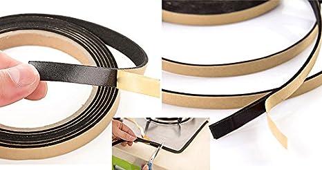 CHIPYHOME Junta Adhesiva Waterproof 2m Largo x 1 cm Ancho Recortable para Placas vitroceramica fregaderos lavabos