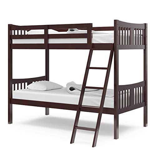 home, kitchen, furniture, bedroom furniture, beds, frames, bases,  beds 2 discount Storkcraft Caribou Solid Hardwood Twin Bunk Bed, Espresso in USA
