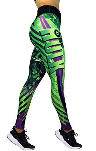 Exit 75 Superhero Many Styles Leggings Yoga Pants Compression Tights (She Hulk Green Sm/Med) -