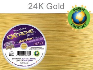 Soft Flex Extreme Beading Wire 24k Gold .024