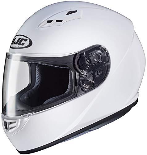 HJC Helmets CS-R3 Unisex-Adult Full Face Solid Motorcycle Helmet (White, Medium)
