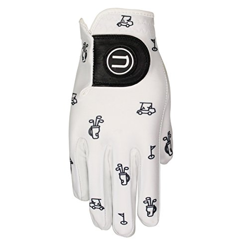 Uther Women's Iconic Golf Glove - Durable AAA Cabretta Leather and Proprietary Cool-Stretch Material (Small, Worn on Right Hand)