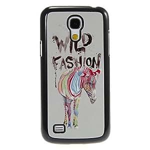 PEACH Colorful Zebra Pattern Aluminum&Plastic Hard Back Case Cover for Samsung Galaxy S4 Mini I9190
