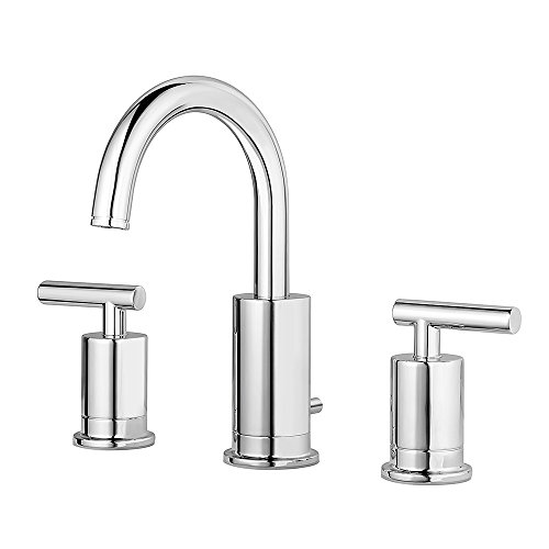 Pfister LG49NC1C Contempra 2-Handle 8 Inch Widespread Bathroom Faucet in Polished Chrome, Water-Efficient Model (Brantford Robe Hook)