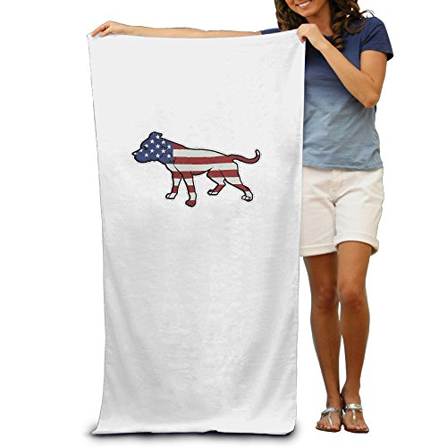 Orioles Beach Towel Baltimore (American Pitbull Standing Proud Usa Flag Adult Beach Towel Pool Towel)