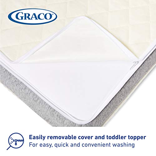 41d22ADP3KL - Graco Ultra Dual-Sided Premium Crib And Toddler Mattress – 2 Sides For Baby And Toddler, CertiPUR-US, GREENGUARD, JPMA Certified Crib And Toddler Bed Mattress, Water-Resistant, Machine-Washable Cover