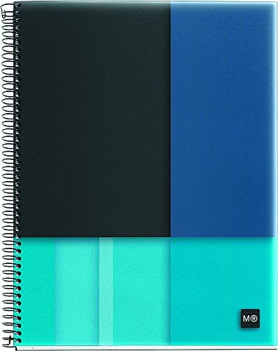 "Miquelrius Medium 4-Subject Spiral Bound Notebook, Scope (6.5"" x 8"", College Ruled, ) (Blue)"