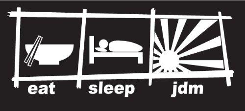 Eat Sleep JDM Decal, sticker, die cut, drifting, racing, jdm