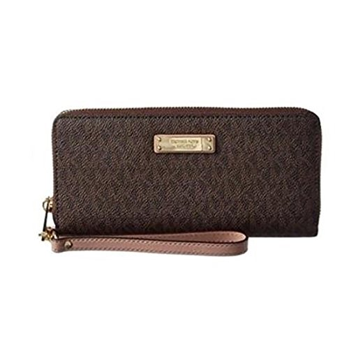 Michael Kors Womens Jet Set Signature Travel Continental Wallet - Brown/Fawn by MICHAEL Michael Kors