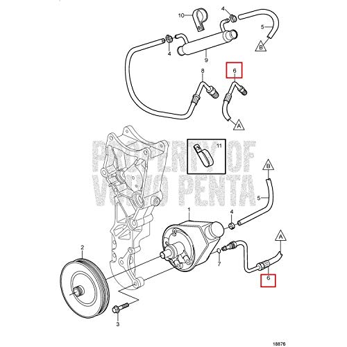 Amazon Com Volvo Hose Assembly 3853918 Automotive