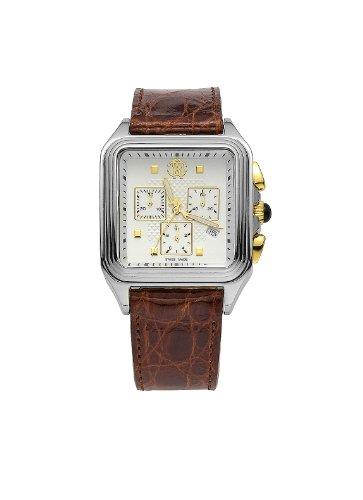 Roberto Cavalli Venom Men's Brown Genuine Crocodile Chronograph Watch ()