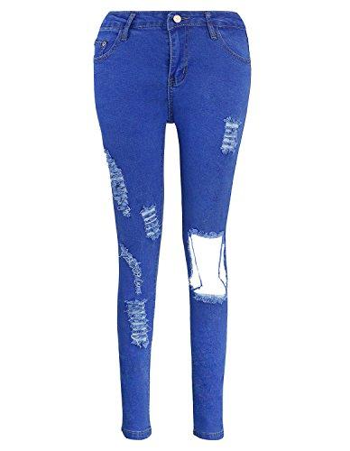 Skinny Jeans Legging Bleu Pantalons Kimikal Stretch Women's E5WO1qz