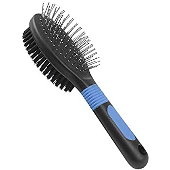 BV Dog Brush and Cat Brush, Pet Grooming Comb, 2 Sided Bristle and Pin for Long and Short Hair Dog, Removing Shedding Hair