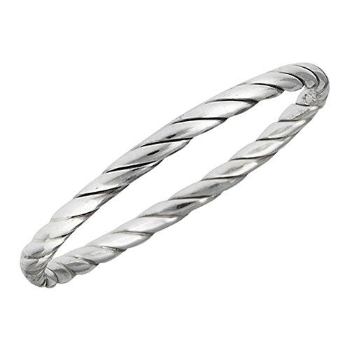 [Twisted Knot Wedding Ring Sterling Silver Stackable Criss Cross Band Size 3.5 (VOL10013-3.5)] (Twisted Stackable Sterling Silver Ring)