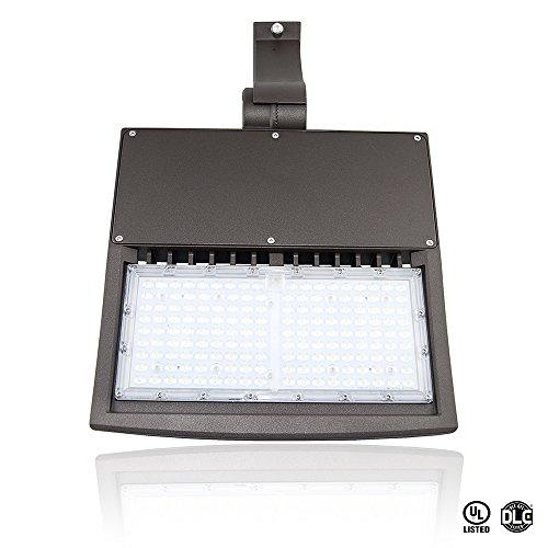 150W LED Shoebox Parking Lot Light, 250-400W Metal Halide/High Pressure Sodium Equ, Square or Round Pole Mount w/Adjustable Knuckle, 20250 Lumens, 5000K, Waterproof IP65, DLC & UL Listed, Bulb ()
