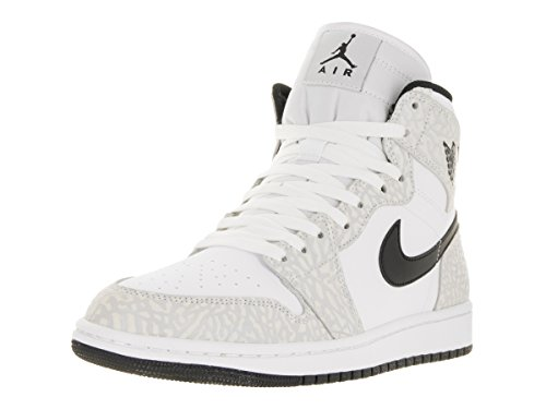 Zapatillas De Baloncesto Nike Hombres Air Jordan 1 Mid Blancas / Negras Pure Platinum