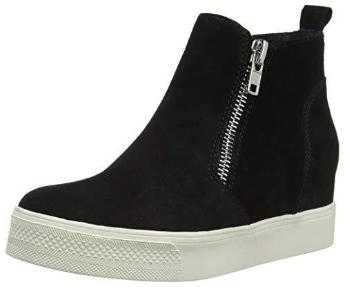 Sneaker Steve Black Hautes Suede Noir 015 Femme Madden Baskets Wedgie 1Exn1rq
