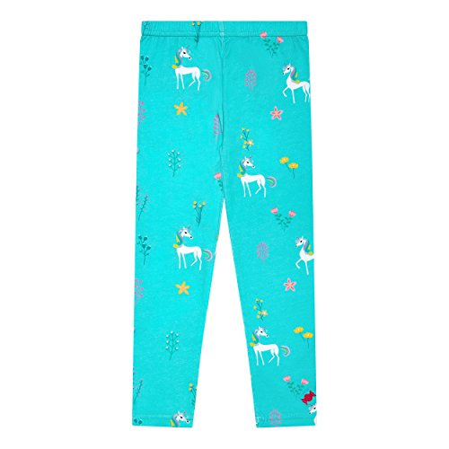 BonBon Clouds Girls Leggings Unicorns - 95% Cotton and 5% Spandex - Active Wear for Babies, Toddlers and Kids (5/6) by BonBon Clouds