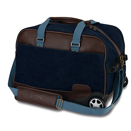 Callaway Golf Tour Authentic Rolling Bag Navy/Brown Luggage New by Callaway (Image #1)