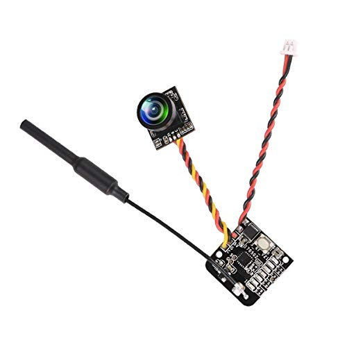 mera 700TVL CMOS Micro Cam 5.8G 48CH 25mW Transmitter Switchable Raceband 10dBi 2.9-5.5V NTSC/PAL Switchable for FPV Drone like Blade Inductrix etc ()