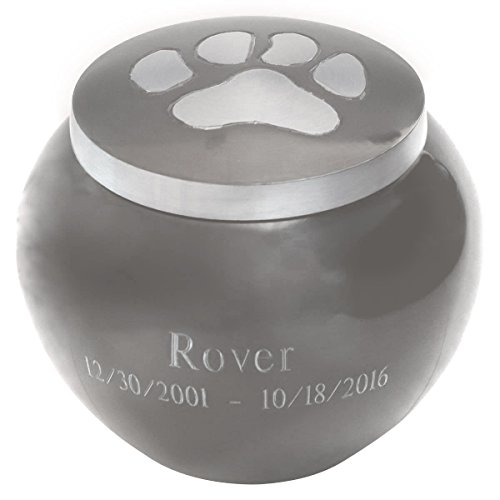 Pawsitively Cherished Custom Pet Urn by Beautiful Life Urns - Personalized, Medium, (Industries Urn)
