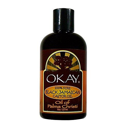 Okay Jamaican Castor Oil, Black, 8 Ounce