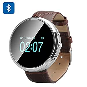 D360 - Smart Watch / Bluetooth / SMS directorio de sincronización / contestación de llamadas / Llamadas / Registro de Llamadas / reposo monitor / podómetro / Plata