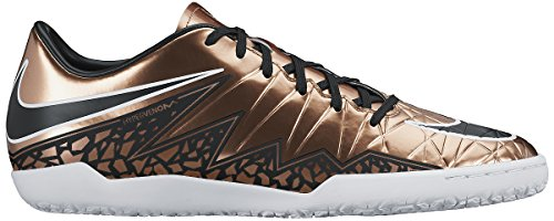 Nike Mens Hypervenom Phelon Ii Ic Scarpe Da Calcio Indoor Rosso Bronzo / Verde Bagliore / Nero
