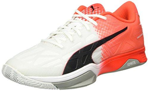 red 02 Blast Calcio Puma 1 Weiß 5 Scarpa da Evospeed White black Indoor Bianco q7wqOP
