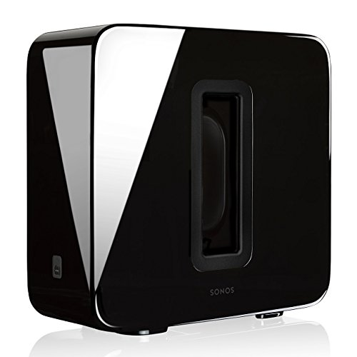 Sonos Sub – Wireless Subwoofer that adds bass to your home theater and your music. (Black) by Sonos