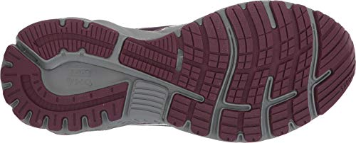 Brooks Women's Adrenaline GTS 19 Grey/White/Fig 5 B US by Brooks (Image #2)