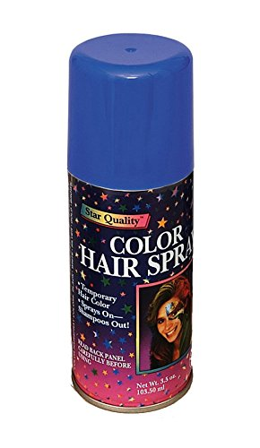 Forum Novelties Temporary Hair Spray Dye Blue Color Can Makeup (Halloween Kids Makeup)