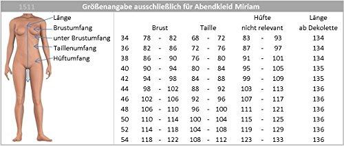 Creme Miriam Farben Bodenlanges amp; JuJu Ballkleid 44 Abendkleid Gr vers Christine 34 Chiffon yRHwqp7w