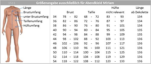 JuJu & Christine Bodenlanges Chiffon Abendkleid Ballkleid Miriam vers. Farben Gr. 34-44 Alt-rosa dgHFcCIzXa