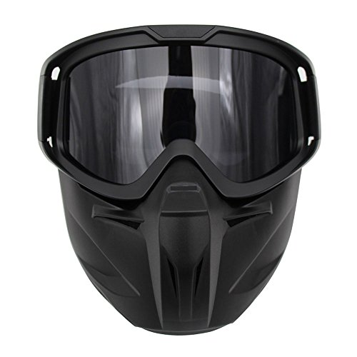 Motorcycle Goggles Mask Detachable Wear Over Rx Glasses Helmet Sunglasses (Model 2, Grey - Sun Glasses Goggles Over