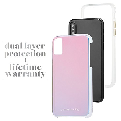 Case-mate robuste élégant fin de protection militaire Force protection absorbant les chocs Bumper pour iPhone 8 – irisé