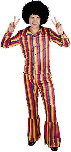 Fancy Me Uomo Brillante Arcobaleno Hippie Hippy Pride