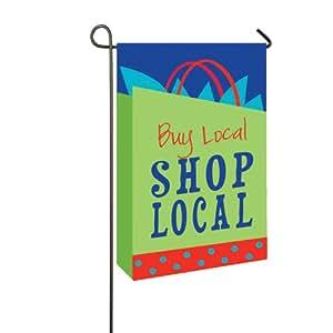 Shop Local Applique Garden Flag