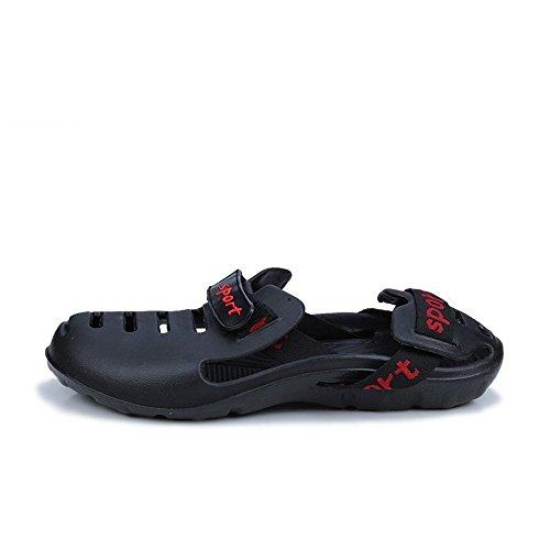 Xing Lin Beach Flip Flop Pantofole Uomini Estate Nuove Scarpe Da Spiaggia Cava Foro Traspirante Scarpe Uomini S Sandali black