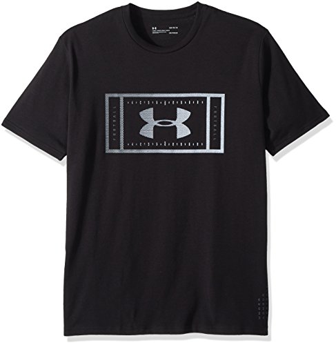 T-shirt Under Armour Football (Under Armour Men's Football Logo T-Shirt, Black/Stealth Gray, X-Large)
